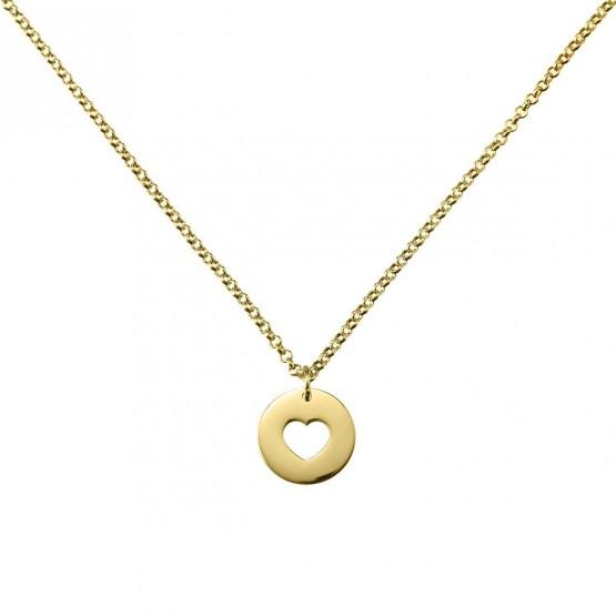 Collar de oro con un corazón calado (3A8307308)