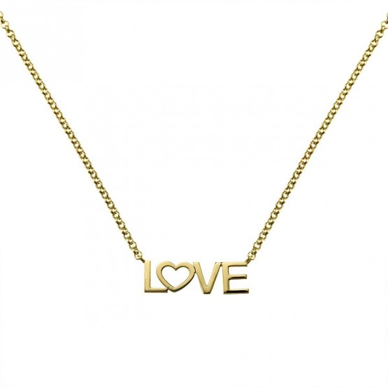Collar de oro amarillo LOVE (3A8307305)