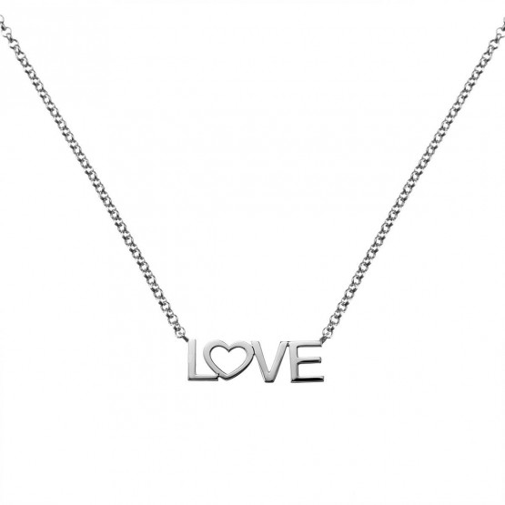 Collar de oro blanco 18k LOVE (3B8307305)