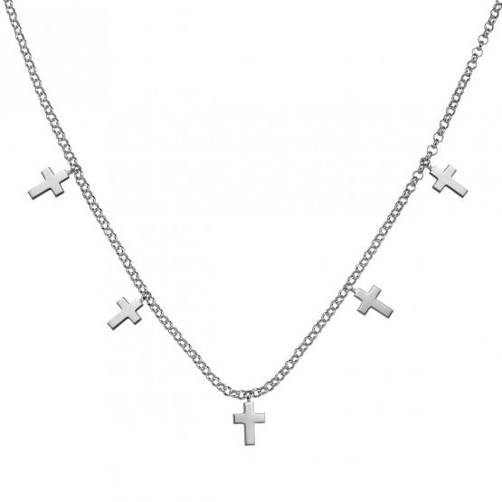 Gargantilla de plata de ley 925 con Cruces (3B8307304)