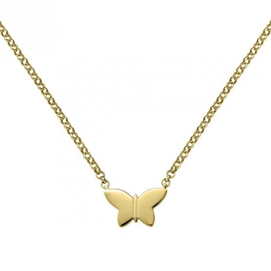 Collar de plata ley 925 bañada en oro Mariposa (3A8307317)