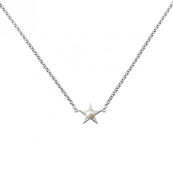 Collar de plata de ley 925 Estrella con Perla (3B8307302)