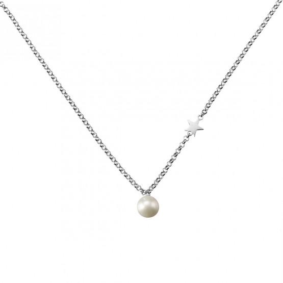 Gargantilla de plata de ley 925 con Perla y Estrella (3B8307301)