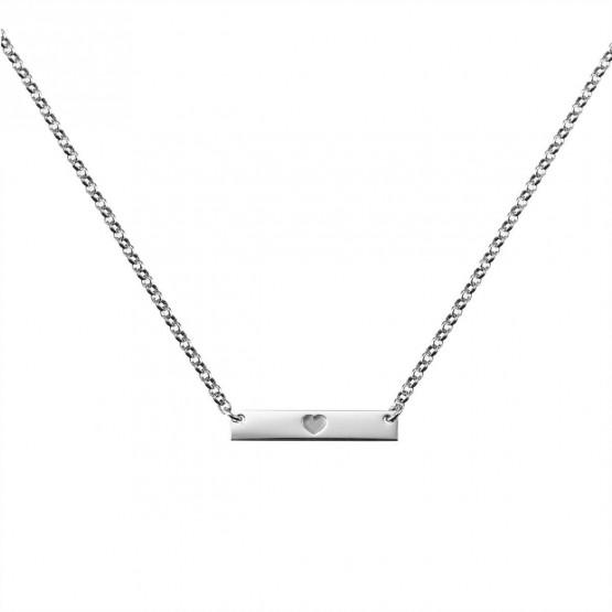Gargantilla de plata de ley 925 con placa de corazón (3B8307306B)
