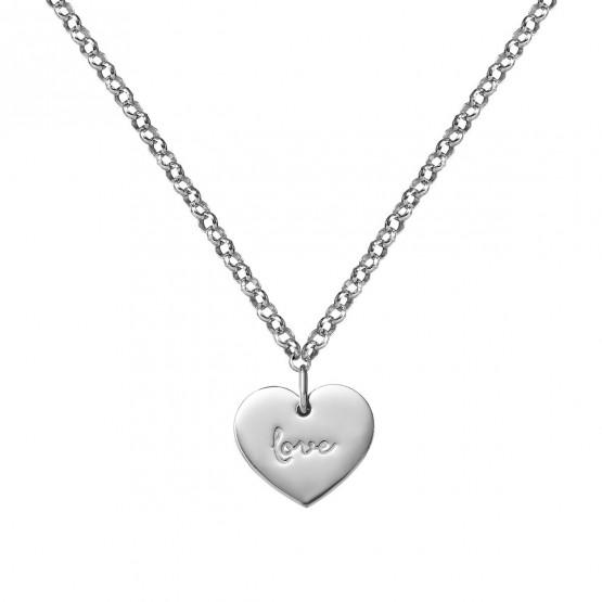 Gargantilla de plata de primera ley corazón love (3B8307315)