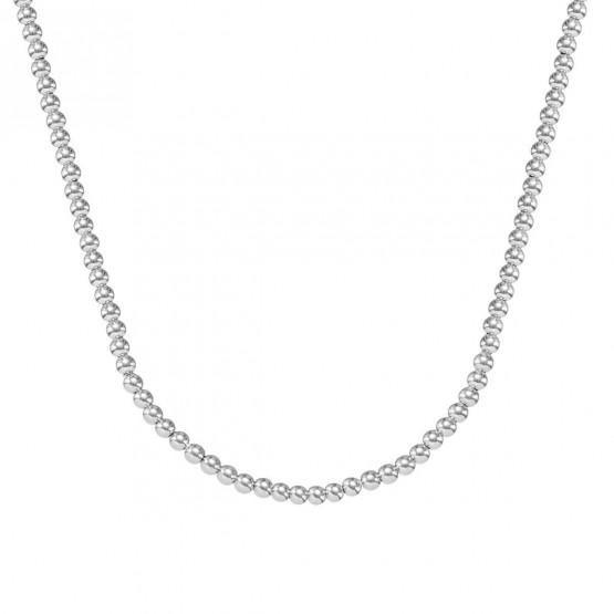 Collar de bolas de oro blanco 18k 3mm (044B123COL)