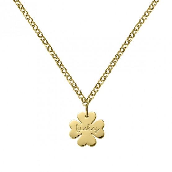 Gargantilla de oro 18k Trébol de la Suerte (3A8307318)