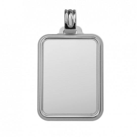 Placa en plata rectangular con bisel (216212L1)