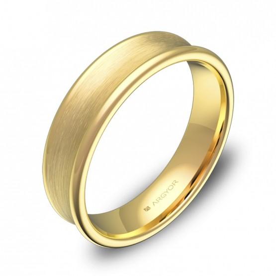 Alianza de boda cóncava 5mm en oro amarillo combinado C0750C00A