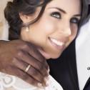 Alianza de boda plana con ranuras 4,5mm en oro bicolor hielo D2945H00A