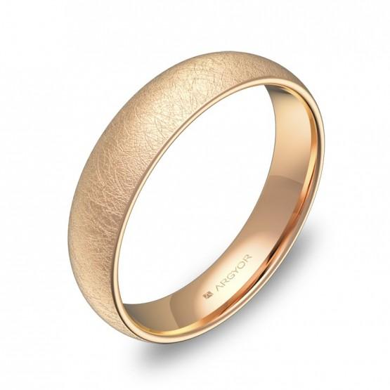Alianza de media caña gruesa 4,5mm en oro rosa hielo A0145H00R