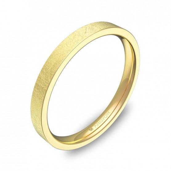 Alianza plana gruesa 2,5mm en oro amarillo hielo B0125H00A
