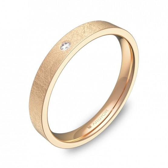 Alianza de boda 3,0mm oro rosa hielo con diamante B0130H1BR