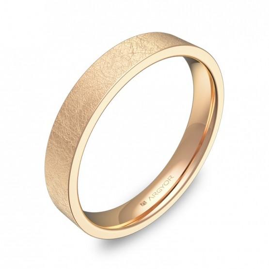 Alianza de boda  3,5mm en oro rosa hielo B0135H00R