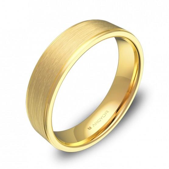 Alianza de boda con biseles 5,0mm en oro amarillo combinado C0150C00A