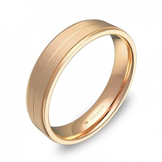 Alianza de boda en oro rosa combinado C1245C00R