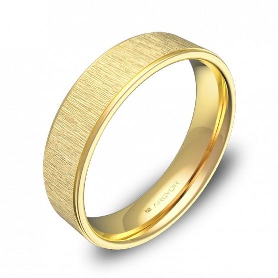 Alianza de boda con biseles 5mm en oro amarillo combinado C2950C00A