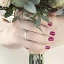 Alianza de boda 4mm oro bicolor satinado con diamante D1540S1PA