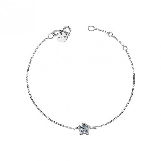 Pulsera oro blanco con Estrella Zafiro Azul (76BPU005ZA)