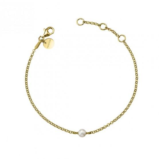 Pulsera de plata bañada en oro con Perla (4A8307303B)