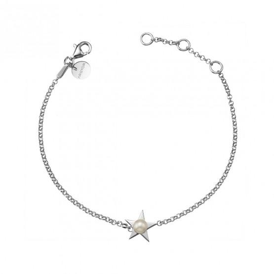 Pulsera de plata de 1ª ley Estrella con Perla (4B8307302)