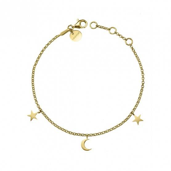 Pulsera de oro amarillo Luna y Estrellas (4A8307300)