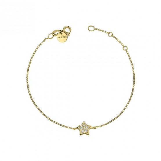 Pulsera oro amarillo 18k con Estrella de diamantes (76APU005)