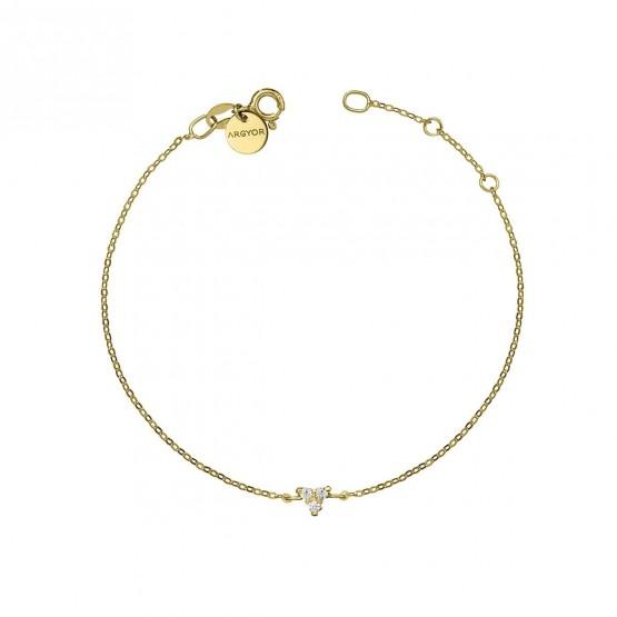 Pulsera oro amarillo 18k con Triángulo de diamantes (76APU002)