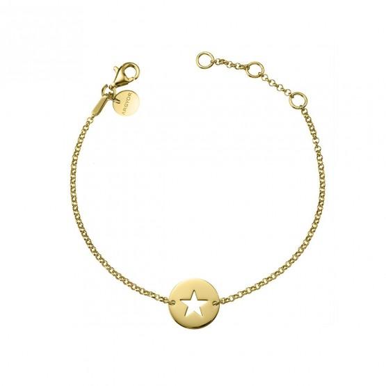 Pulsera de plata de 1ª ley dorada Estrella (4A8307309)
