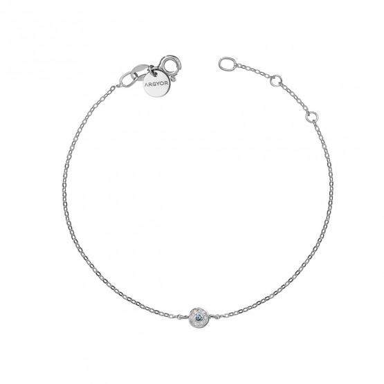 Pulsera oro roseta diamante y zafiro azul (76BPU003ZA)