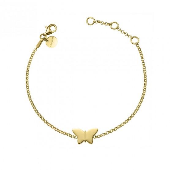 Pulsera de plata dorada ley 925 Mariposa (4A8307317)