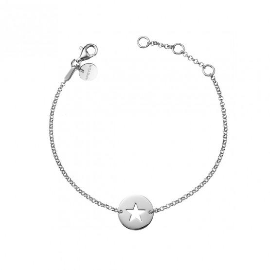 Pulsera de plata de ley 925 Estrella calada (4B8307309)