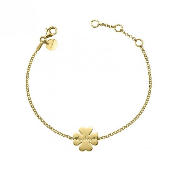 Pulsera de plata dorada Trébol de la Suerte (4A8307318)