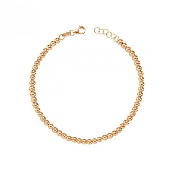 Pulsera de de bolas de oro rosa 18k 3mm (044R123PUL)