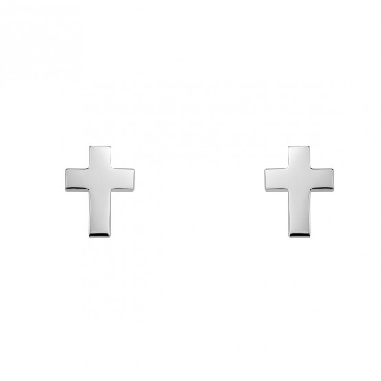 Pendientes de plata ley 925 forma de cruz (6B8307304)