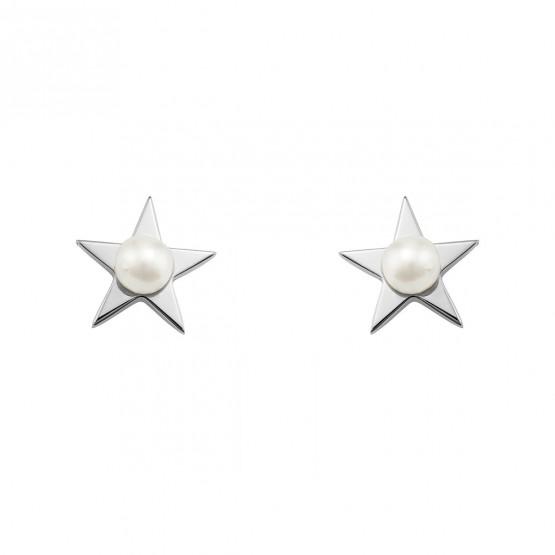 Pendientes de plata Estrella con Perla (6B8307302)