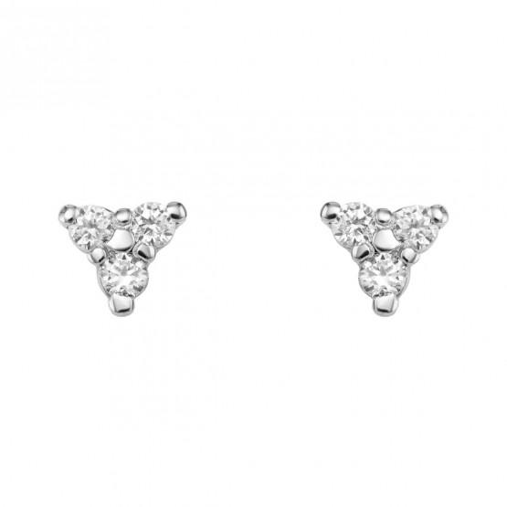 Pendientes Triángulo diamantes y oro blanco 18k (76BPE002)
