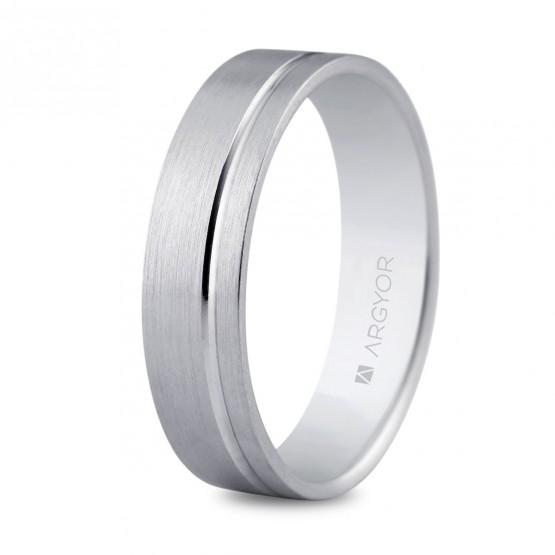 Alianza de boda en plata 5mm interior confort (5750316)