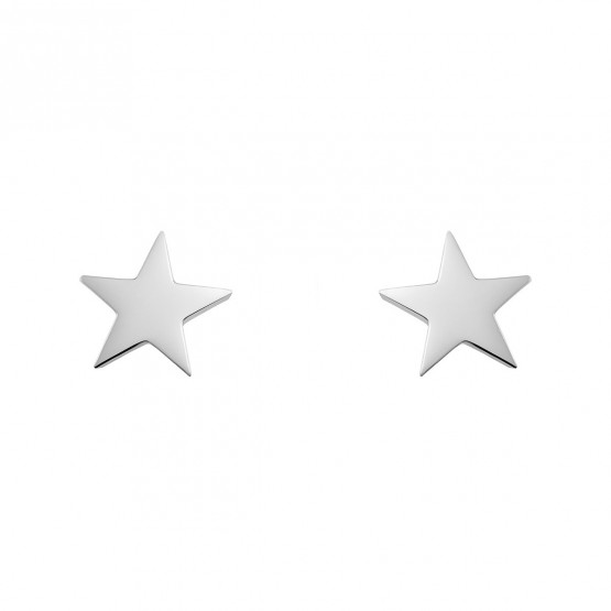 Pendientes de plata con forma de estrella (6B8307300A)