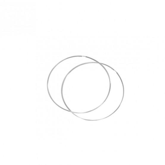 Pendientes de aro en oro blanco 40mm (06B0140)