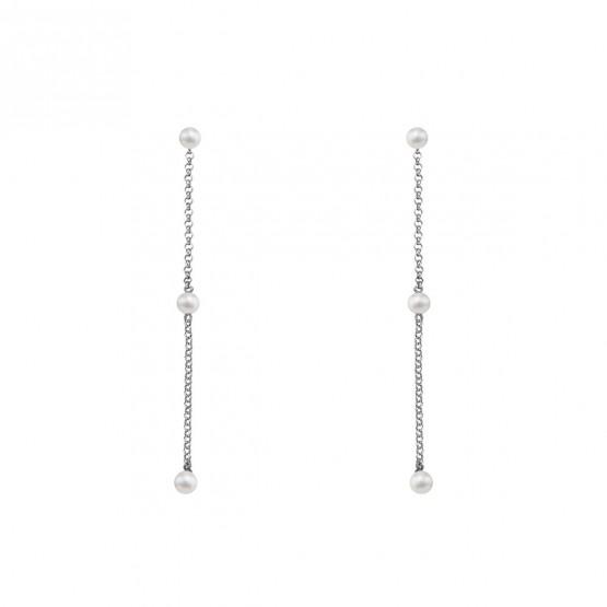 Pendientes de plata largos con Perlas (6B8307303D)
