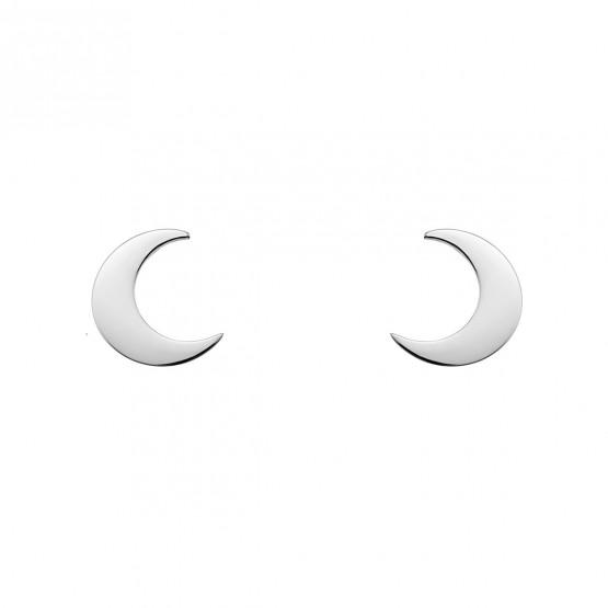 Pendientes de plata de ley 925 forma de luna (6B8307300B)