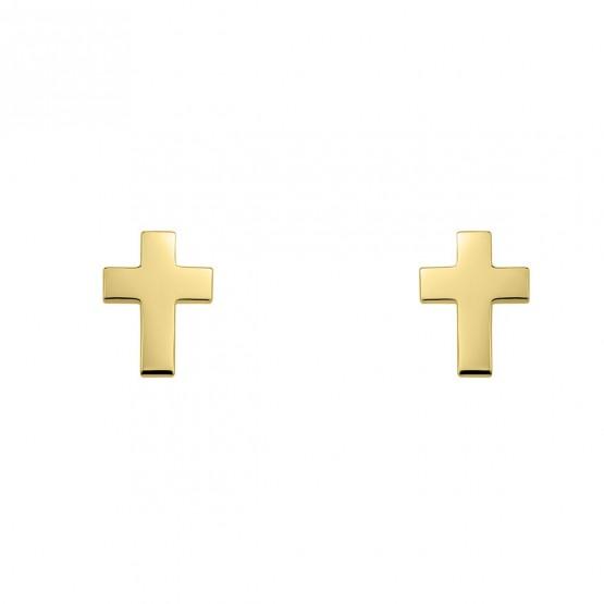 Pendientes de oro con forma de cruz (6A8307304)