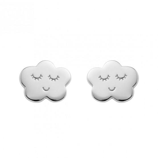 Pendientes plata de ley 925 Nube sonriente (6B8307316)