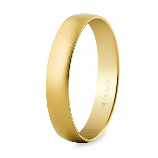 Alianza de boda de oro efecto arena 4mm (50403M)