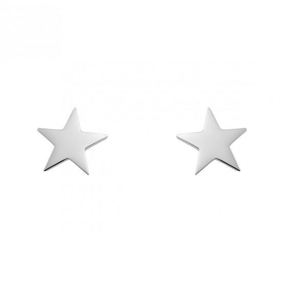Pendientes de oro blanco en forma de estrella (6B8307300A)