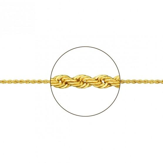 Cadena de oro hueca diseño cordón (094172190)
