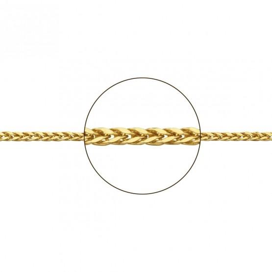 Cadena de oro hueca forma de espiga (094160030)