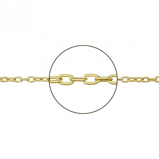 Cadena forzada de oro amarillo 18k hueca (094121040)