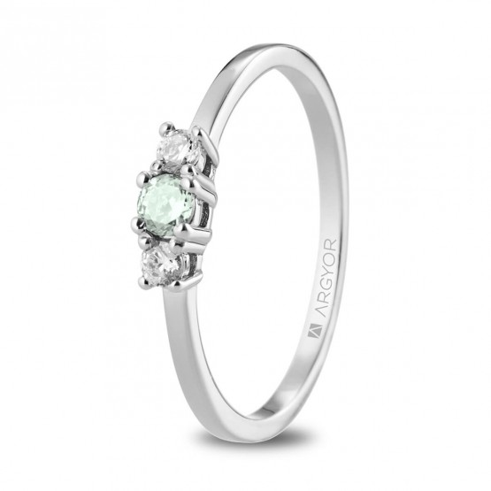 Anillo corona Diamante y Zafiro Verde (74B0083ZV)